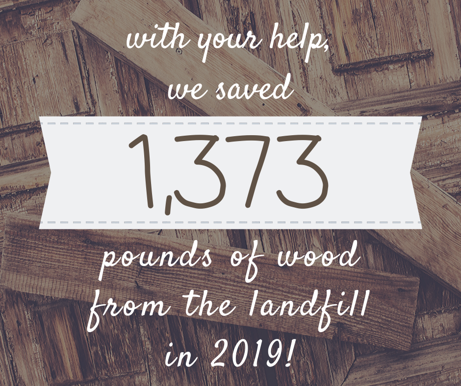 1373 Pounds of Wood Saved