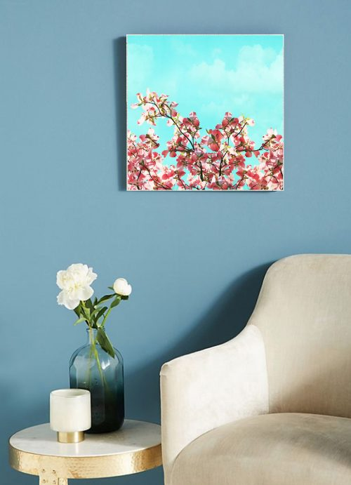 Pink Dogwoods Large Art Block