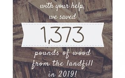 MKC Photography Saved 1,373 Pounds of Wood in 2019
