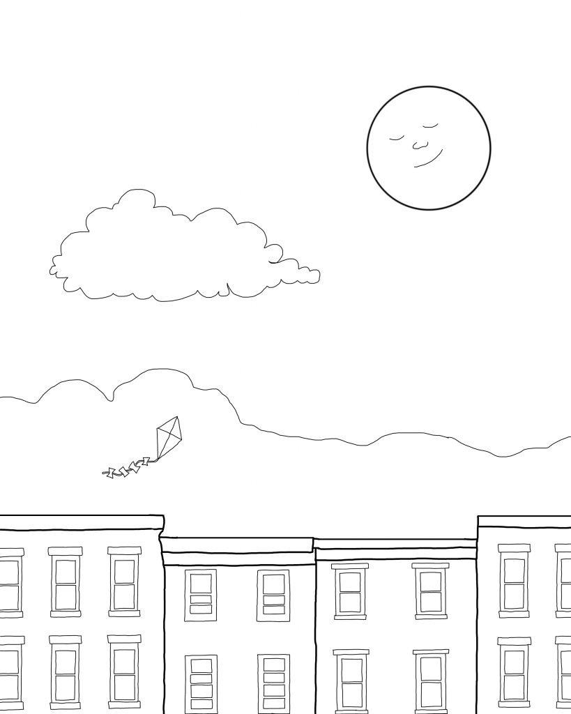 Daytime Flight Coloring Page