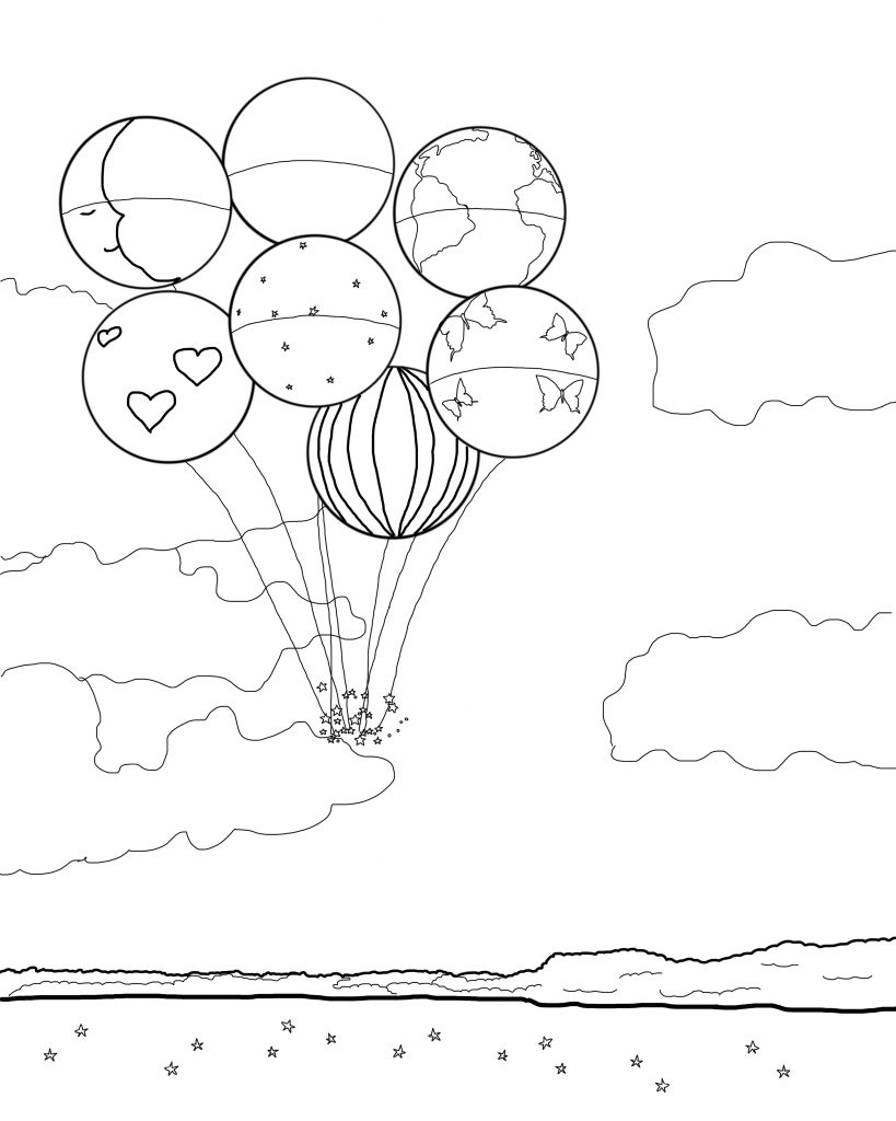 Dreaming Garden Takes Flight Coloring Page