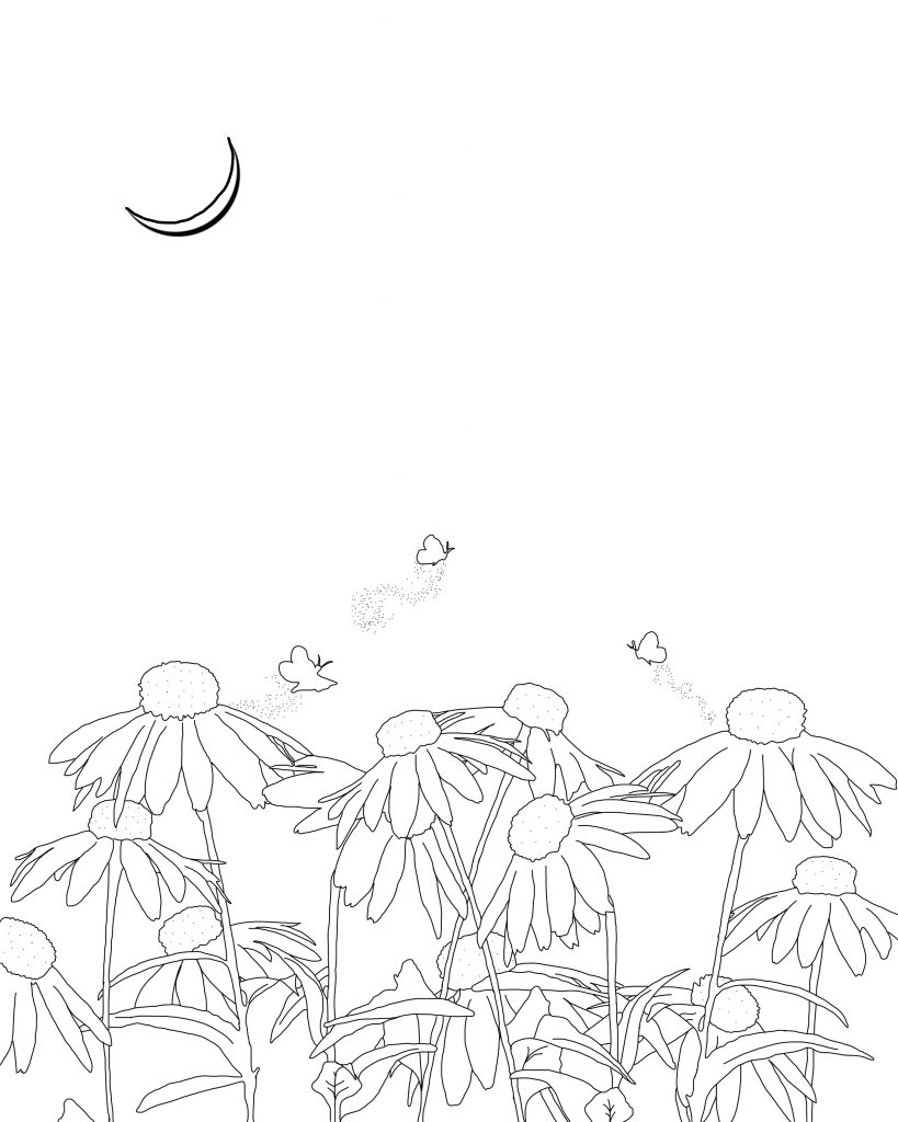 Fireflies Coloring Page