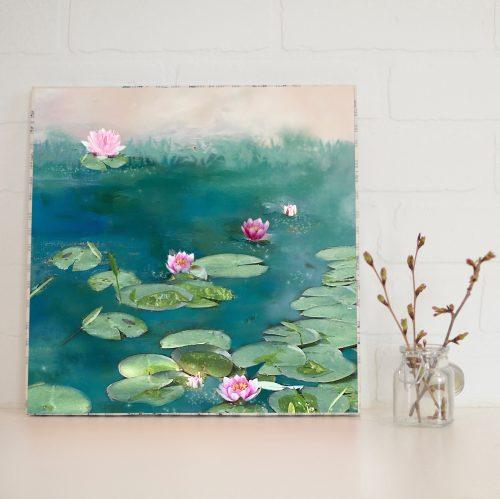 Water Lilies Large Art Block