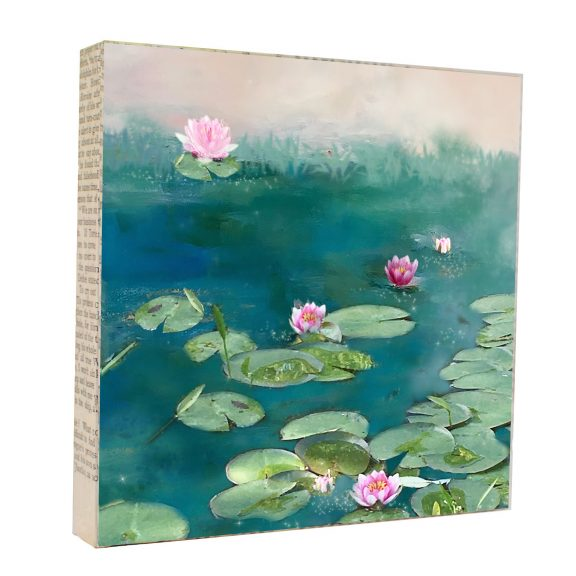 Water Lilies Art Block