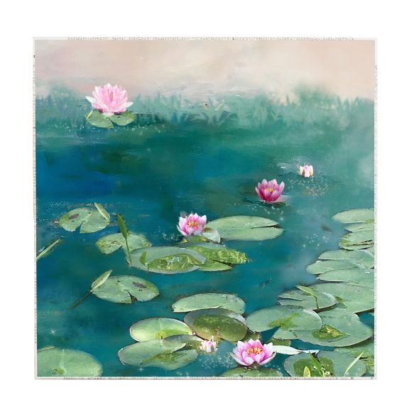 Water Lilies Large Art Block