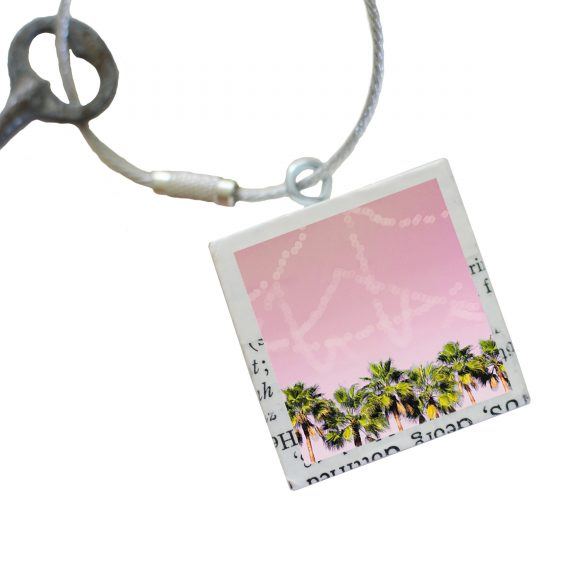 Row of Palms Keychain