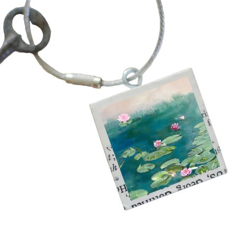 Water Lilies Keychain