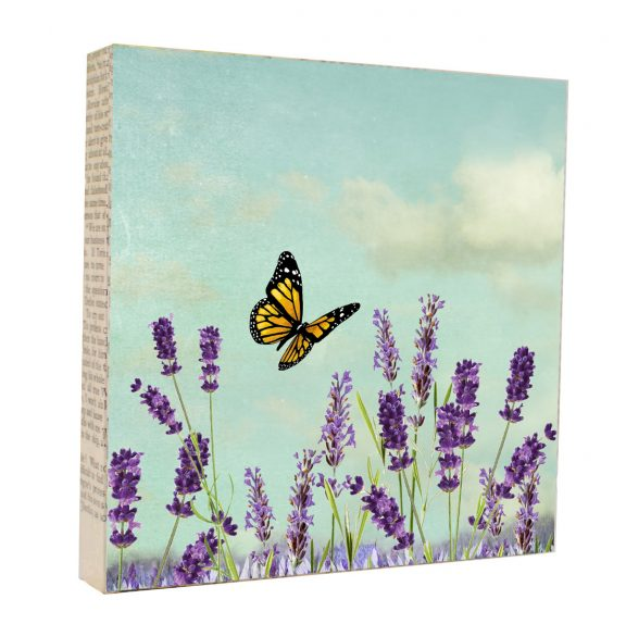 Lavender Butterfly Art Block