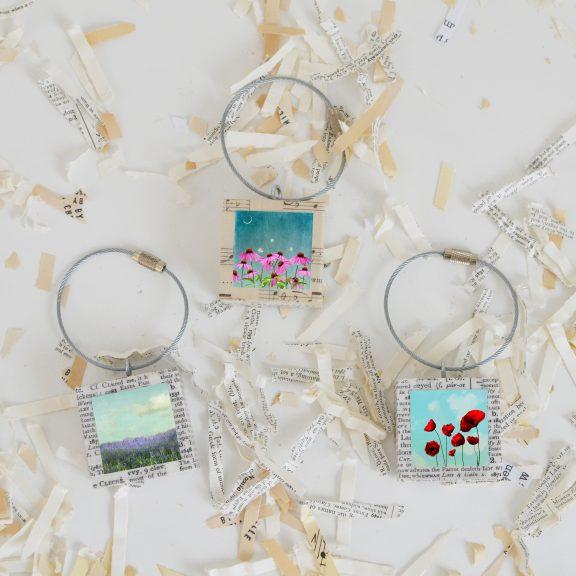 Floral Keychain Set
