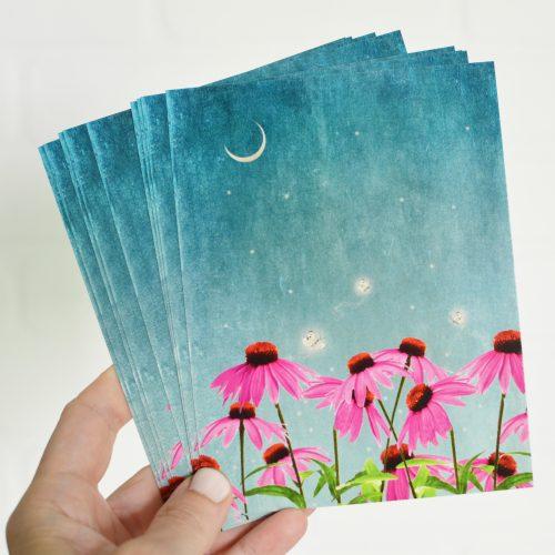 Fireflies Notecards