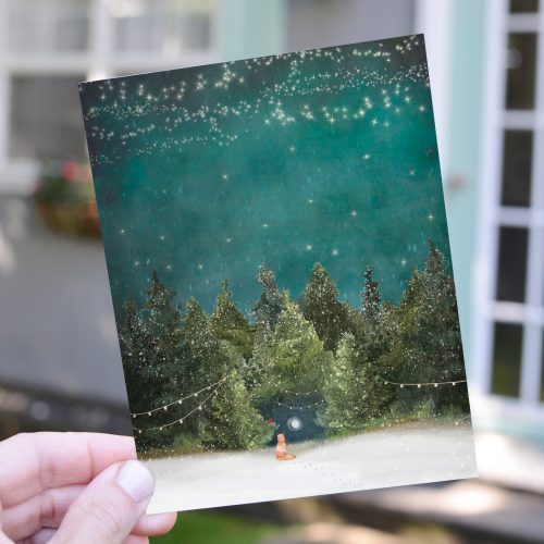 Hidden Moon Card in Hand