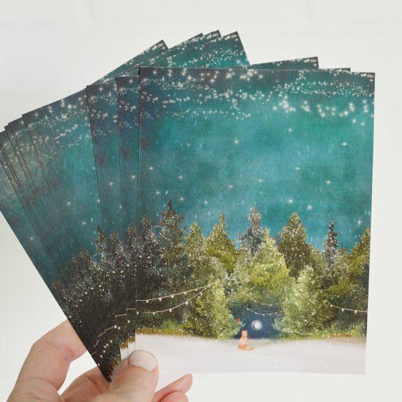 Hidden Moon Notecards