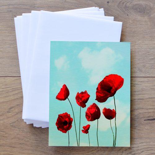 Poppies Notecard Envelope Set