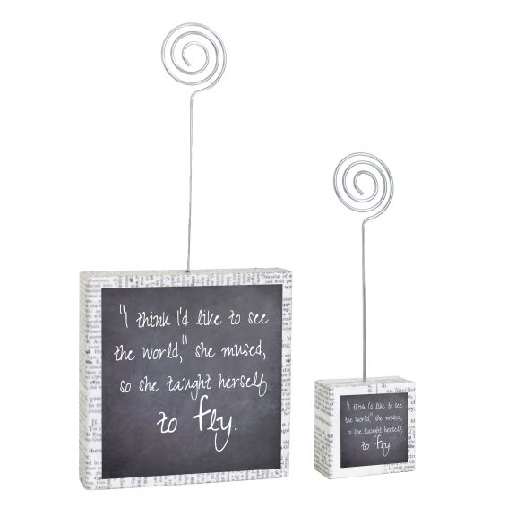 Fly Black and White Large Small Photo Holders