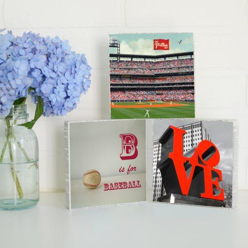 Phillies Baseball Love Art Blocks